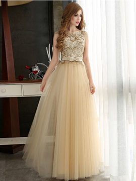 Glamorous A-Line Straps Bowknot Sequines Long Prom Dress & Hot Sale Evening Dresses under 500