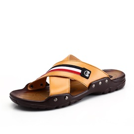 Striped Open-Toe Beach Sandals for Men