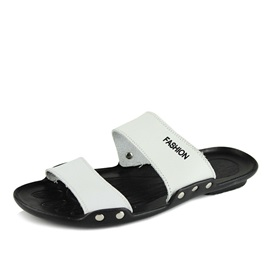 PU Slip-On Beach Sandals for Men