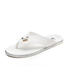 Elegant PU Thong Beach Sandals for Men