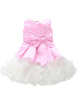 Falbala Big Bowknot Girl's Dress