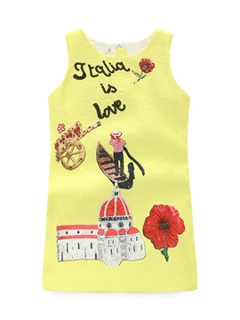 Castle and Boat Image Girl's Shift Dress