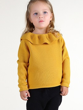 Candy Color Ruffles Baby's Sweater