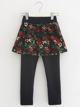 Floral Skinny-Leg Girl's Culotte