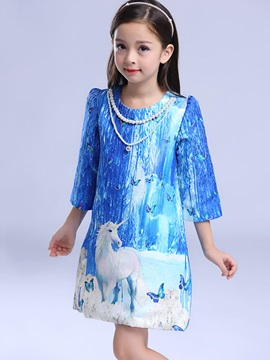 Chic Ice Prince Necklace Girls' Dress
