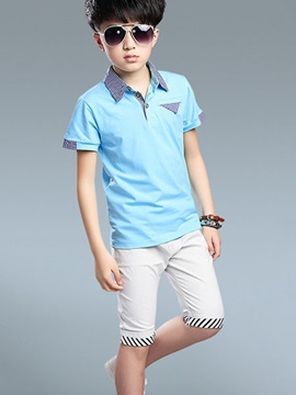 Striped Legs Boy's Outfit