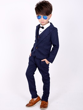 Solid Color Boy's 3-Piece Outfit