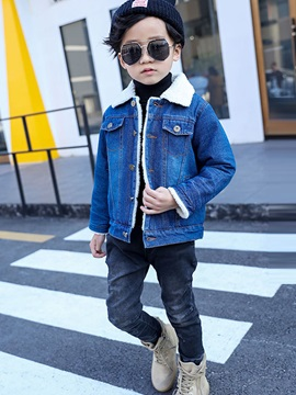 Vogue Faux-Shearling Kid's Denim Jacket