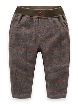 Casual Stripe Thickening Boy's Pant