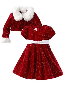 Stylish Polka Dots Christmas Girl's Outfits