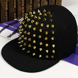 Black Cotton with Rivets Baseball Hat