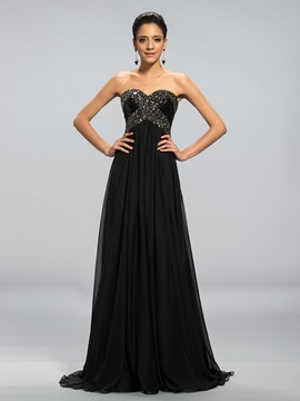 A-Line Sweetheart Beading Sequins Long Evening Dress Designed & unique Designer Dresses