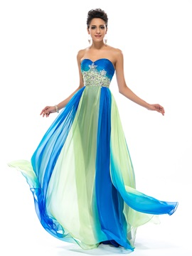Dazzling Sweetheart Ruffles Beading A-Line Prom Dress Designed & vintage style Designer Dresses