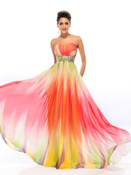 Colourful Sweetheart Beading Long Prom Dress Designed & informal Designer Dresses