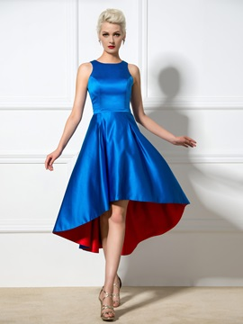 Simple A-Line Straps Hollow Sleeveless Asymmetrical Cocktail Dress & cheap Designer Dresses