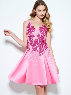 Delicate Straps Appliques Short Homecoming Dress & petite Designer Dresses