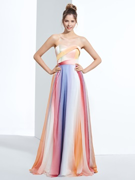 Sweetheart Pleats Print Prom Dress & colorful Designer Dresses