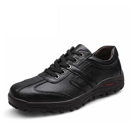 Black Round Toe Plus Size Men's Shoes
