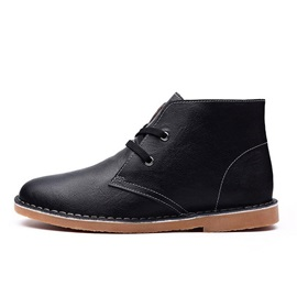 PU Lace-Up Chukka Boots