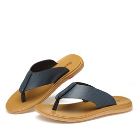 PU Thong Slip-On Men's Sandals