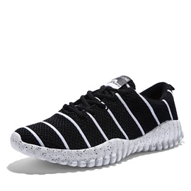 Breathable Mesh Striped Printed Sneakers