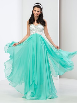 Modern Sweetheart A-Line Sequined Beaded Long Prom Dress & Faster Shipping Sale under 300