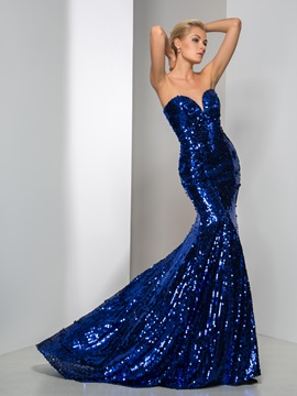 Shining Sweetheart Mermaid Sequined Evening Dress & Faster Shipping Sale 2012