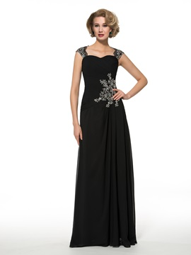 Straps Sequins Appliques A-Line Chiffon Mother of the Bride Dress & Faster Shipping Sale under 500