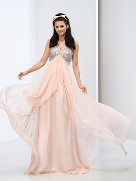 Amazing Sweetheart Empire Waist Beaded Sequined Long Prom Dress & Faster Shipping Sale on sale