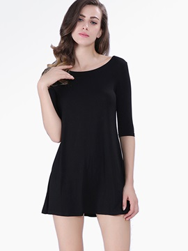 Casual 3/4 Sleeve Day Dress
