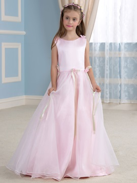 Classic Pink Princess Flower Girl Dress Cheap & Faster Shipping Sale for less