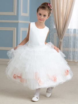 Cute Ruffles Floral Princess Flower Girl Dress & casual Faster Shipping Sale