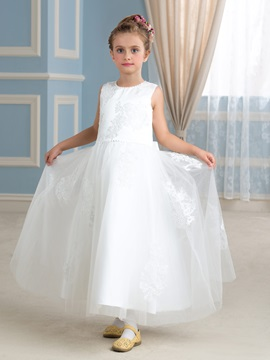 Ivory Tulle Princess Flower Girl Dress & formal Faster Shipping Sale