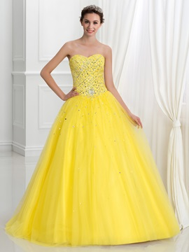 Shining Sweetheart Beading Sequins Quinceanera Dress & fashion Faster Shipping Sale