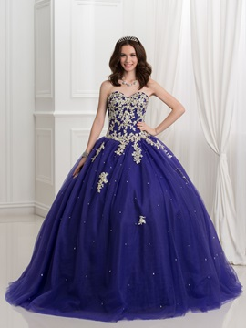 Glamorous Sweetheart Appliques Beading Ball Gown Quinceanera Dress & vintage Faster Shipping Sale