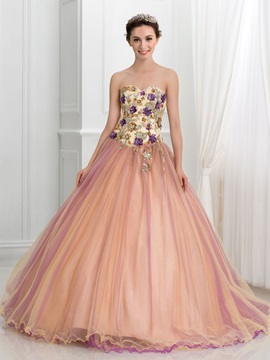 Glamorous Sweetheart Beading Appliques Ball Gown Quinceanera Dress & attractive Faster Shipping Sale