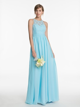 Halter Lace A Line Long Bridesmaid Dress & fairytale Faster Shipping Sale