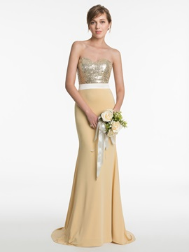 Sweetheart Sequins Mermaid Bridesmaid Dress & Faster Shipping Sale from china
