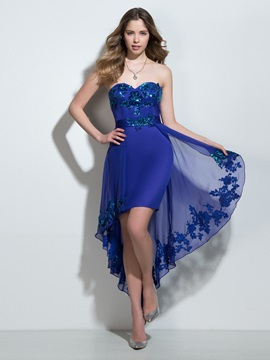 Chic Sweetheart Sequins Column High Low Cocktail Dress & Faster Shipping Sale for sale