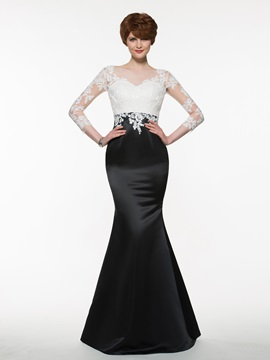 Bateau Lace Appliques Mermaid Mother of the Bride Dress & Faster Shipping Sale 2012