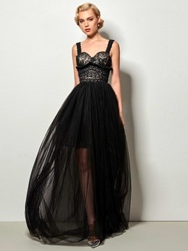 Elegant A-Line Straps Hollow Lace Evening Dress & fairy Faster Shipping Sale