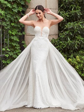 Charming Sweetheart Lace Mermaid Wedding Dress & attractive Faster Shipping Sale