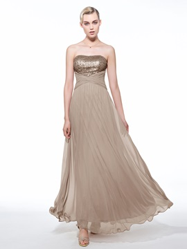 Empire Waist Strapless Sequins Long Evening Dress & unusual Faster Shipping Sale