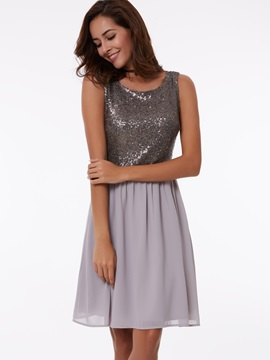 Straps A-Line Short Sequins Homecoming Dress & fashion Faster Shipping Sale