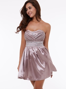Cheap Sweetheart Beading Short Cocktail Dress & Faster Shipping Sale for less