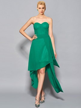 Unique A-Line Sweetheart Pick-Ups Asymmetry Cocktail Dress & Faster Shipping Sale under 300