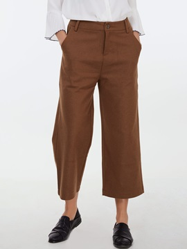 Loose Wide Legs Wool Blends Pants