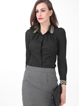 Special Collar and Cuff Long Sleeve Work Shirt