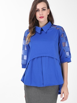 Stylish Sleeves Double-Layer Blouse