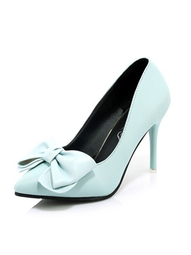 Solid Color Bowtie Slip-On Classic Pumps